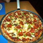 """Miner's Deluxe 14"""" Thin Crust Pizza--THE BEST!!!"""
