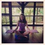Enjoying the yoga room!
