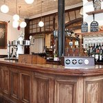 Inside the Green Man Cider House and Kitchen pub in Marylebone