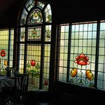 Restaurant leaded glass windows
