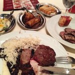 Sample of meats and sides at Fogo de Chao