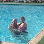In the pool with the wife