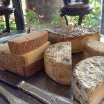 朝食のチーズセレクション