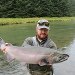 Silver Salmon.  We caught many bigger, but I liked the shnoz on this one.