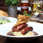Pub food at the Old White Lion pub in Finchley