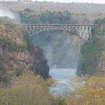 View of Victoria Falls Bridge from Victoria Falls Hotel