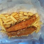 Crumbed butterfish and minimum chips- yummmmmy!
