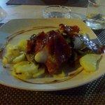 Cod with parma ham