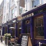 Outside the Volunteer pub on Baker Street in London