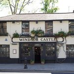 Outside the Windsor Castle pub in Kensington, London