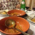 Trattoria Tullio Farro Soup and Pasta, Family Style