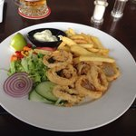 Lunch time Calamari very good and Aioli to die for