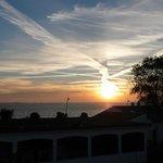 lever de soleil face à l'hôtel