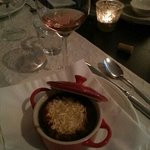french onion soup - our entrée one night at the hotel