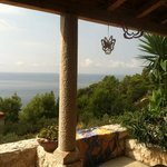 villa view, the scents of the sea, lavender and rosemary in the air