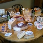 a sampling of cheeses sold