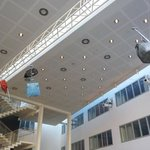 Bags in the ceiling of the lobby?