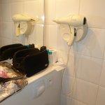 Decent hairdryer in bathroom