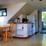 Kitchen Area of Studio Apartment at The Water's Edges Inn, Baddeck, Cape Breton, Nova Scotia
