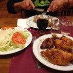 1/2 poulet salade laitue