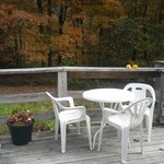 Enjoy fall foliage from the back deck.