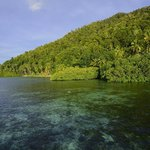Crystal cear waters on Mansuar Island