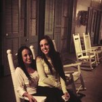 on the rocking chairs
