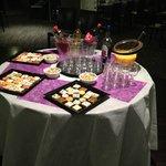 buffet salé dînatoire.
