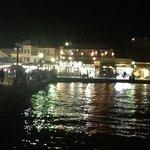 il porto di notte.