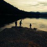 Kids Skipping rocks