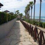pathway to beach/bar/restaurant