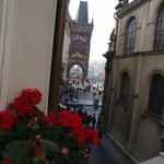 Charles Bridge from the room