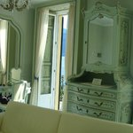 Hand painted furniture and shutters in our suite
