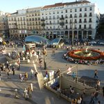 View from room over Puerta del Sol