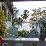 Blick zum Strand von der Terrasse