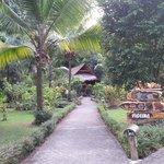 Bungalow y jardines