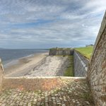 The Moray Firth from a Cannon emplacement on the Ramparts of Fort George