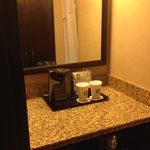 Coffee area in bathroom