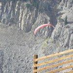 Hang Glider taking off