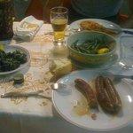 Salsiccia cornetti e barbabietole