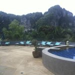 Mountain view from pool
