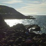 Rugged coastline to the south