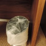 How the maids think a new garbage bag should be put in.