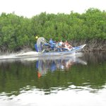 Another airboat in action