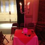 Table decoration at Masked Ball