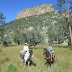 With such stunning scenery, it felt like riding in a cowboy movie!