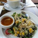 Fresh quinoa black bean,corn salad
