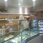 A view of the gelato shop