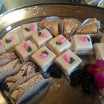 Petit Fours, Cannoli, Baklava at banquet lunch