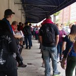 This was about 2:30PM when tickets were being handed out